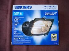 Brinks Security Lighting Systems Single Head Halogen Flood Light  / Brand NEW