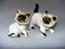 Siamese Cat Kittens - Set of 2 - Porcelain Figurines