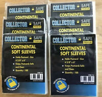 "1000 Collector Safe Premium Postcard Soft Sleeves 4 3/8"" x 6"""