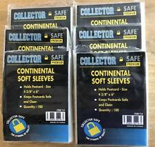 "600 Collector Safe Premium Postcard Soft Sleeves 4 3/8"" x 6"""