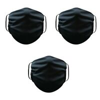 Face Mask Washable Reusable Adult Unisex 3 Pack Black