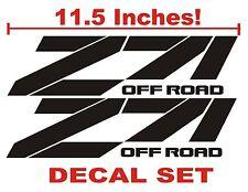 Z71 Truck Bed Decals, BLACK (Set) for Chevrolet Silverado