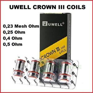 UWELL Crown 3 Coil Verdampferkopf 0.23 mesh 0,25 0,4 0,5 Ohm