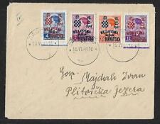 CROATIA ZAGREB- PLITVICKA 4 OVPT. ON COVER 1941
