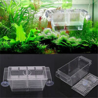 Aquarium Fish Tank Guppy Double Breeding Breeder Rearing Trap Box Hatchery New