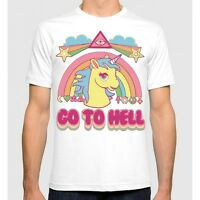 Go To Hell T-shirt My Little Pony Funny Unicorn Men's Women's New Cotton Tee