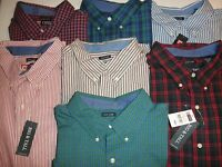 NWT $59 CHAPS Mens Big and Tall Long Sleeve Shirts: XLT 2XB 2XT 3XB 3XT 4XB