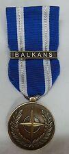 MEDAGLIA NATO BALKANS MISSIONI DI PACE MEDAIL OPERAZIONE MISSIONE CON TARGHETTA