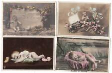 Ensemble 4 cartes postales Bébé. 1903-1910 TBE