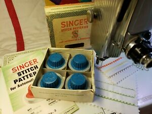 Singer Automatic Zigzagger Stitch Pattern Design Cams Blue Tops Box Set No. 3