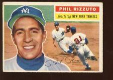 1956 Topps Baseball Card #113 Phil Rizzuto New York Yankees EX
