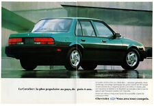 1993 CHEVROLET Cavalier Vintage Original 2 page Print AD - Blue car photo Canada
