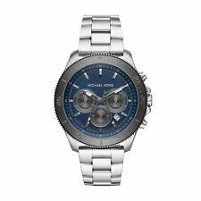 Michael Kors Masculino Theroux MK8662 Prata Quartzo Aço Inoxidável Relógio Esportivo