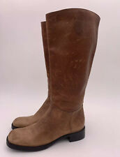 Gianni Bini Brown Distressed Leather Riding Boots Size 7M