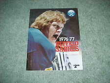 1976 Buffalo Sabres Hockey Yearbook Jim Schoenfeld Cover
