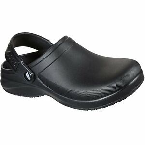 Skechers Womens 108067 Arch Fit Riverbound Pasay Slip Resistant Work Shoes Clogs