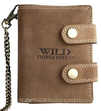 Genuine leather biker's wallet Wild with 19.5 inches long metal chain to hang