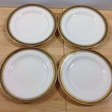Antique Spode Copeland Majestic 4 Bread Butter Plates Gold Cobalt Chain 1900s