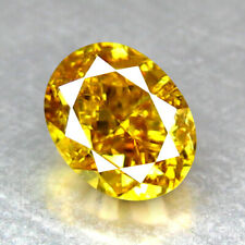 """0.31CT EXCELLENT OVAL CUT UNTREATED FANCY YELLOW DIAMOND """"VS2"""" CLARITY"""