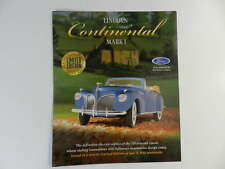 Franklin Mint 1941 LINCOLN CONTINENTAL MARK I Brochure Pamphlet Mailer - blue
