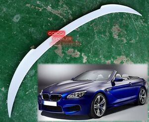 Painted BMW 2012-2018 F12 6-series convertible V type trunk spoiler all color ◎