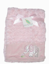 Starting Out Layette - Pink Plush Baby blanket - Elephant
