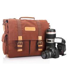 Portable Canvas Digital Camera bag Photography Shoulder Case Bag for SLR DSLR