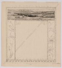"""""""Vignette Project"""", by Emilie Mediz-Pelikan (1861-1908), Ink Drawing, 1894"""