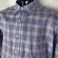 Brooks Brothers Casual Dress Shirt Non Iron Supima Cotton Plaid Checks Sz XL