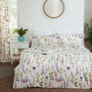 Hampshire Duvet Covers Floral Country Watercolour Cream Quilt Cover Bedding Sets