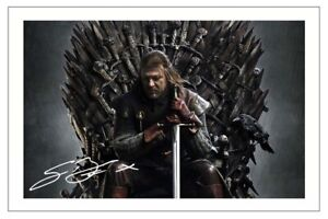 SEAN BEAN SIGNED PHOTO PRINT AUTOGRAPH GAME OF THRONES NED STARK