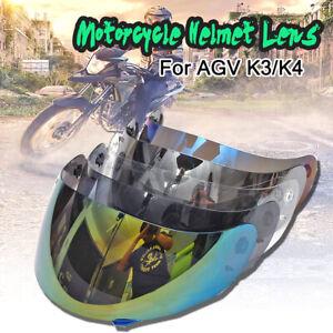 Visiera Casco Specchio Helmet Adatto Anti Graffio UV Per Motocross AGV K3 K4