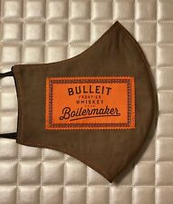 Embroidery Patch Bulleit Bourbon Handmade Fabric Mask- Brown/male