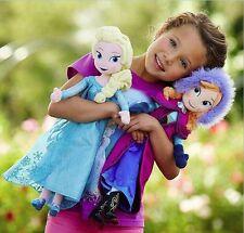 2pcs Christmas gift 40CM Frozen Elsa&Anna princess stuffed Soft plush Doll FAS
