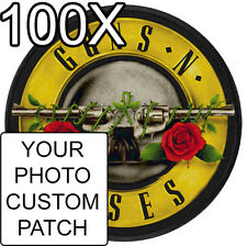 100pcs Indestructible Custom Personalized Embroidered Photo Quality Patch Circle