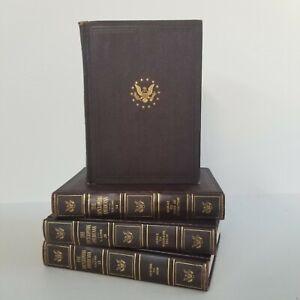 Vintage Encyclopedia Americana Décor Lot of 4 Decorative Staging Props