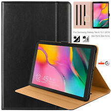 """Handcraft GENUINE LEATHER Case Cover For Samsung  Tab A 10.1"""" T515/T510 (2019)"""