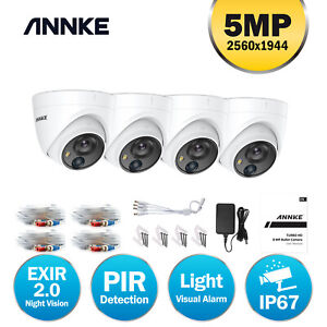 ANNKE Dome 4pcs CCTV PIR Outdoor Camera for Home Surveillance System Kit IP66 UK