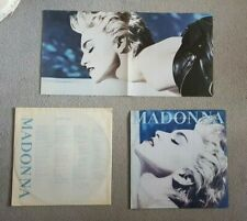 MADONNA TRUE BLUE RARE ORIGINAL VINYL LP FROM POLAND WITH LYRICS SLEEVE + POSTER