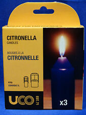 UCO 9 Hour Citronella Candle 3-Pack for Candle Lantern Camping Tactical  NEW