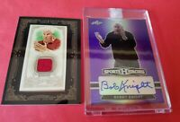 Bobby BOB Knight CERTIFIED AUTOGRAPH AUTO CARD #10/10 & WORN RELIC COACH INDIANA