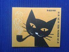 1. Vintage Label with of matches - Etykiety z zapalek