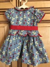 "American Girl 18"" Doll Retired Molly Emily Meet Outfit Dress ONLY"