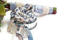 Steel Blue Tree Of Life  Wedding Handfasting Cord  #Wedding #Handfasting