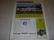 FOOTBALL COUPURE LIVRE PHOTO COULEUR 18x12 EQUIPE D2B GRENOBLE 1991 1992