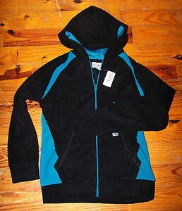 New! Boys THE CHILDREN'S PLACE Black & Blue Fleece Hoodie Shirt Light Jacket