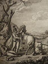 RARE Gravure HUSSARD CHEVAL OFFICIER NAPOLEON EMPIRE Husarenregiment Erdödy 1800