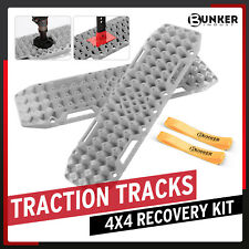 Bunker Indust Recovery Tracks With Jack Lift Base 2pcs Grey Traction Boards
