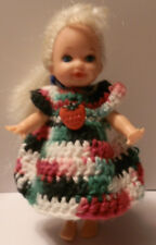 Ooak Handmade Crochet Kelly Clothes for Kelly Red White Green Dress Strawberry