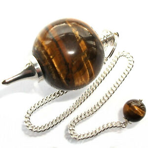 Golden Tiger Eye Ball Dowsing Pendulum